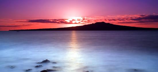 Pink Sunrise, Isola di Rangitoto