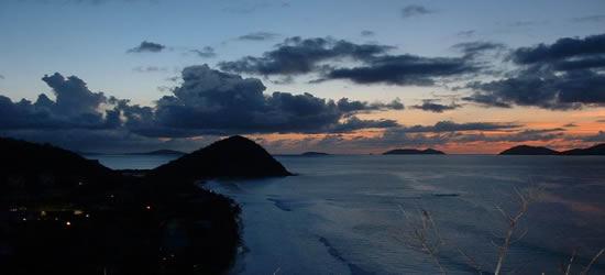 Tramonto su Long Bay, BVI
