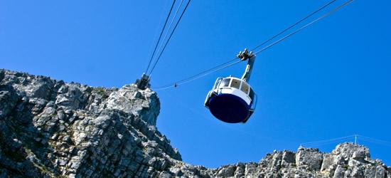Cable Car della montagna di tabella