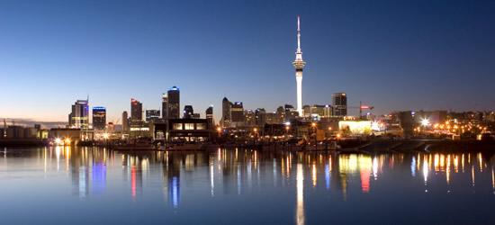 Orizzonte di Auckland, Nuova Zelanda