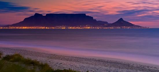 Vista dal capo dei Lions della Table Mountain