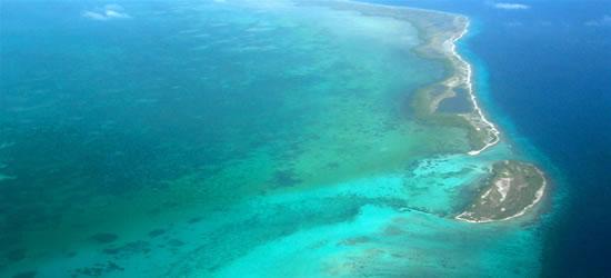 Foto aerea di Los Roques