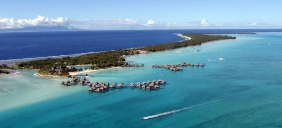 Veduta aerea di Bora Bora