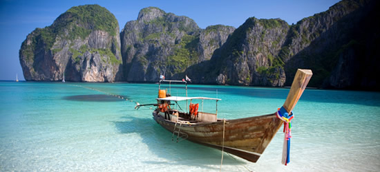 Barca Long Tailed, Isole Phi Phi, Tailandia