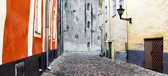 Vecchie strade di Tallinn, Estonia