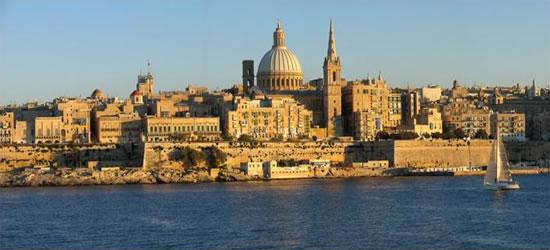 Vista panoramica di Valletta