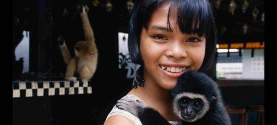 Ragazza Ragazza e Pet Monkey, Phuket