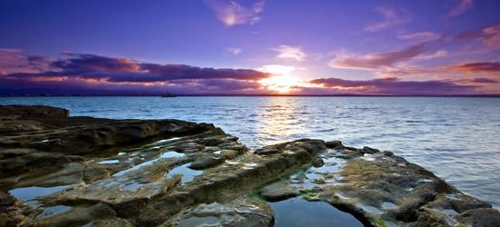 Sunset Point, colpo Chevaliererial di Urapukapuka Island, Nuova Zelanda