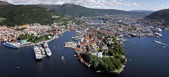 Vista panoramica di Bergen