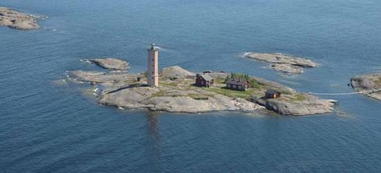 Veduta aerea delle isole Aland