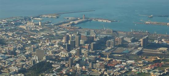 Vista aerea di Città del Capo