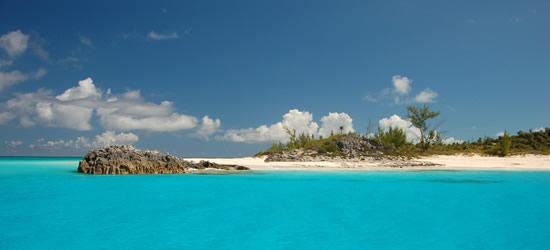 Vista da un yacht, Bahamas