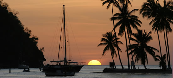 Sunset Marigot Bay, Santa Lucia