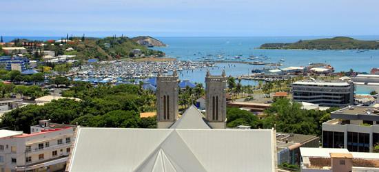 Vista panoramica di Noumea, Nuova Caledonia