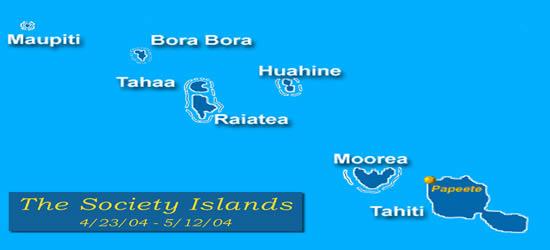 Mappa delle Isole della Compagnia
