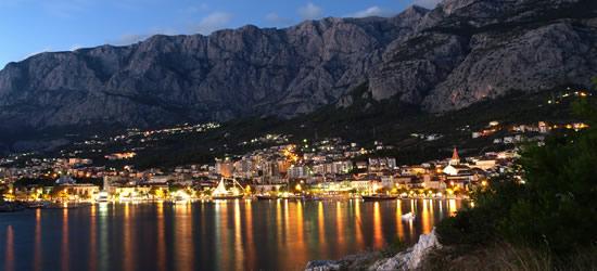 Riviera di Makarska a Twilight
