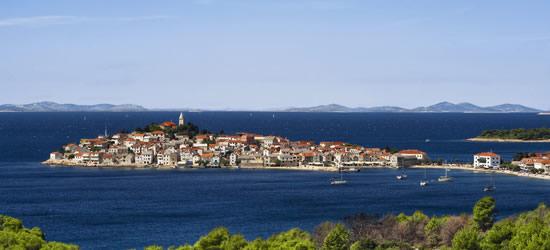 Veduta dell'isola di Primosten, Croazia
