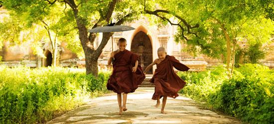 Monjes budistas jóvenes, Myanmar
