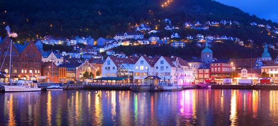 Crepuscolo di Bergen