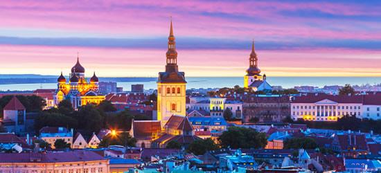 Sorprendente tramonto, Tallinn Estonia