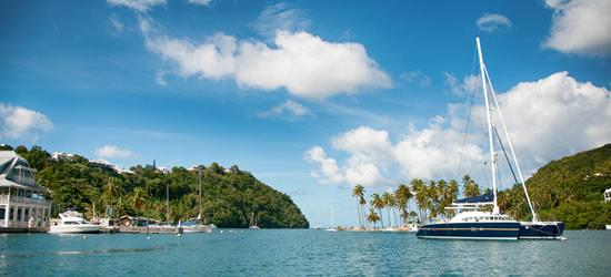 Catamarano Anchor, Marigot Bay