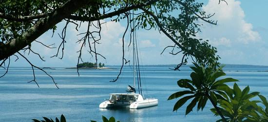 Catamarano ad Anchor, Madagascar