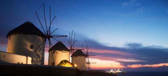 Mulini a vento a Twilight, Santorini