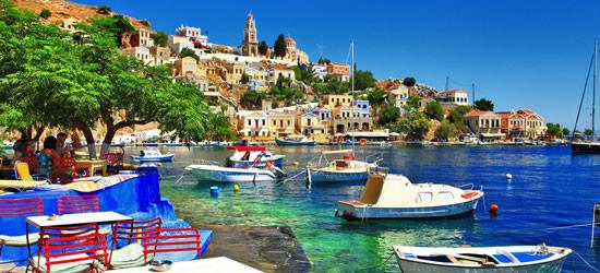 L'isola colorata di Symi, regione Dodecanese